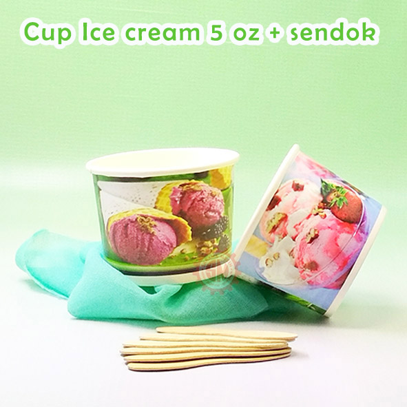 paper cup ice cream 5 oz
